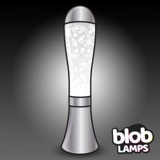 BIG BLOB Silver Glitter Lamp