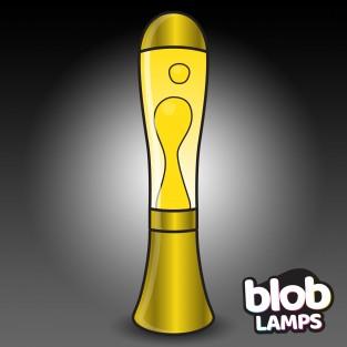 BIG BLOB Metallic Gold Lava Lamp - White/Yellow