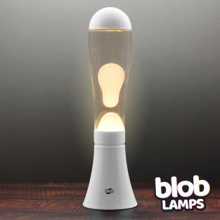 BIG BLOB White Lava Lamp - White/Clear