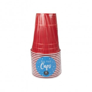 Big Red 18oz Party Cups x 15