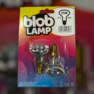25W Replacement Lava Lamp Bulbs E14 R39 - Twin Pack