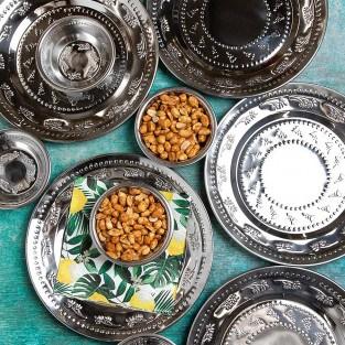 Boho Spice Indian Silver Bowl