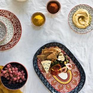 Boho Ceramic Serveware Platters