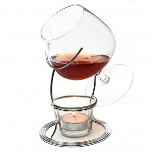 Brandy Glass Warmer Set