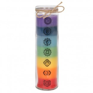 Tall Glass Chakra Candle
