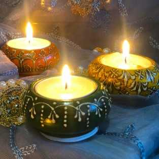Colourful Indian Tealight Holders