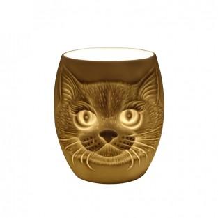 Cat Face Porcelain Tealight Holder