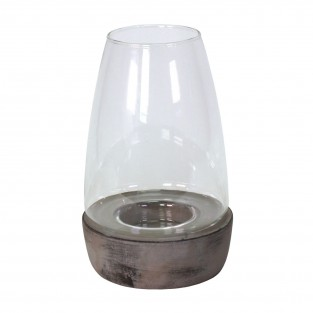 Ceramic and Glass Candle Holder