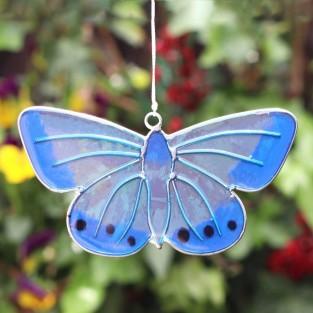 Chalkhill Blue Butterfly Sun Catcher