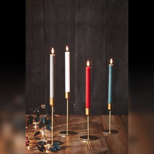 Chandelier Led Taper Candles W/timer - 2 Pack