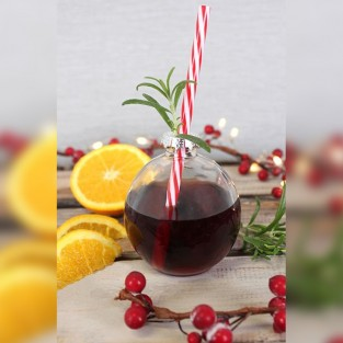 Christmas Bauble Glasses (12 pack)