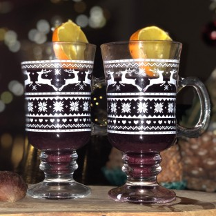 Christmas Mulled Wine Glass