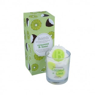 Coconut and Lime Piped Candle