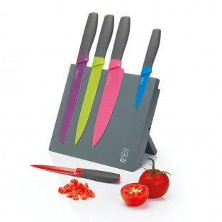 Colourworks Bright 5 Piece Magnetic Knife Set