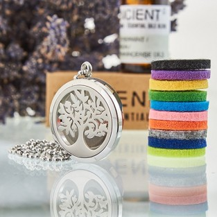 Diffuser Necklace - Tree of Life 30mm (08)