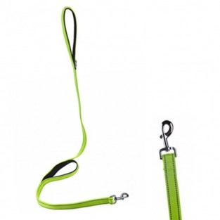 Dog Control Lead - Neon with Reflective Stitching