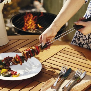 Double Pronged Slider BBQ Skewer