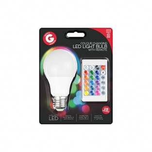 E27 Colour Change LED Lightbulb with Remote