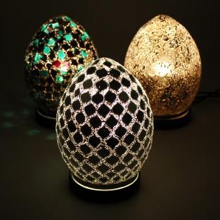 20cm Mosaic Egg Lamp