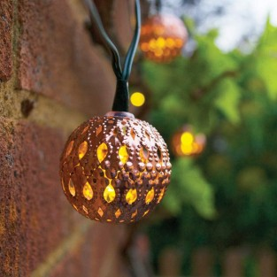 Elan Solar Copper Ball Fairy Lights