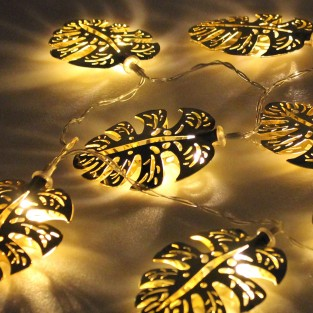 Gold Palm Leaf Fairy Lights