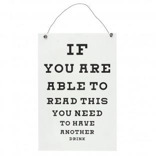Eye Chart Bar Sign
