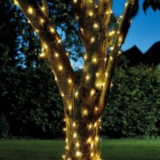 50 Solar Firefly String Lights Warm White