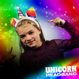 Flashing Unicorn Headband