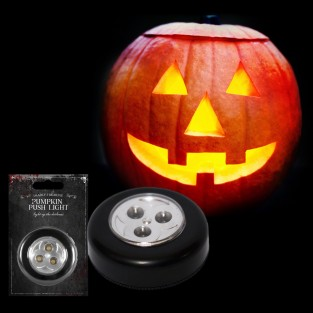 LED Pumpkin Push Light