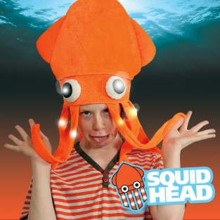 Flashing Squid Hat