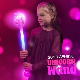 "20"" Flashing Unicorn Wand Wholesale"