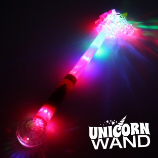 Large Light Up Unicorn Wand Wholesale
