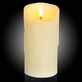 18cm Flickabright Wax Drip Candle