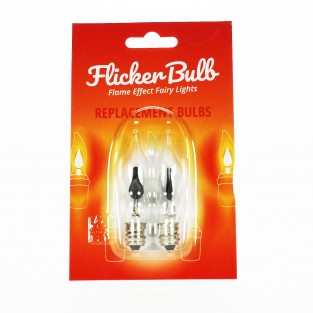 Spare Bulbs for Flicker Bulb String Lights (2 Pack)