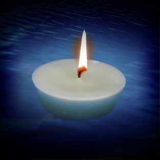 Floating Pond or Pool Candle