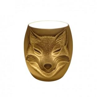 Fox Face Porcelain Tealight Holder