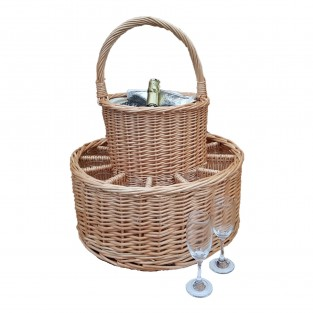 Garden Party 12 Glass Basket with Cooler