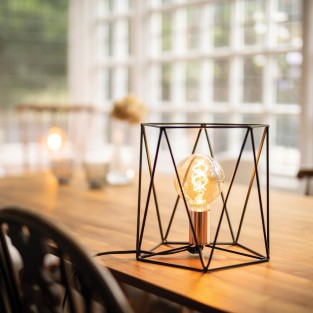 Geometric Cage Table Lamp