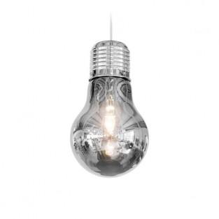 Giant Light Bulb Pendant - Smoky Grey