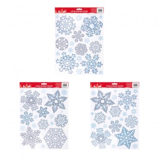 Glitter Snowflake Window Sticker
