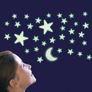 Glow Glitter Stars