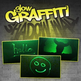 Glow Graffiti Shadow Wall Vinyl