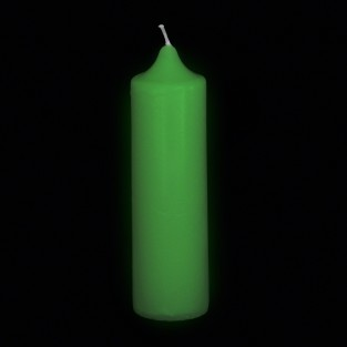 Glow in the Dark Pillar Candle 14cm
