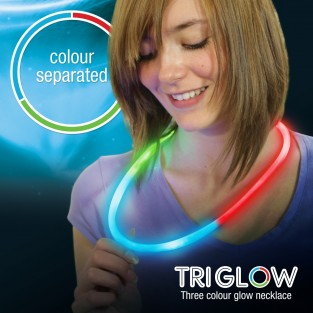 Tri 3 colour glow necklaces