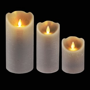 Grey Dancing Flame Candle