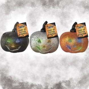 Light Up Glitter Pumpkins (3 Pack)