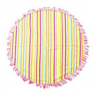 Hammam Striped Roundie Towel/Rug 150cm
