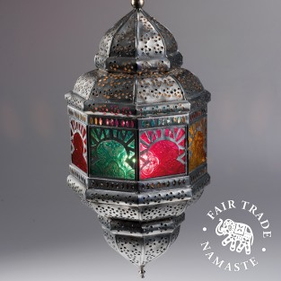 Large Colourful Hanging Lantern