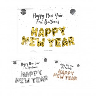 Happy New Year Foil Balloons