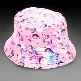 Pink Holographic Unicorn Hat